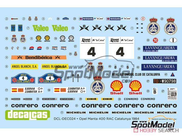 Opel Manta 400 Gr.B Costa Brava Rally 1984 RAC Catalnia Decal Set (Decal) Other picture5