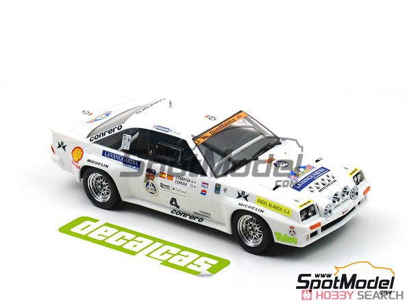 Opel Manta 400 Gr.B Costa Brava Rally 1984 RAC Catalnia Decal Set (Decal) Other picture8