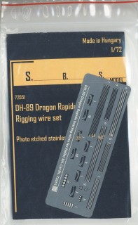 SBS Model 72051 1//72 Dh-89 Dragon Rapide rigging wire set for Heller kit