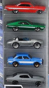 Hot Wheels The Fast and the Furious 5 car pack (Completed)