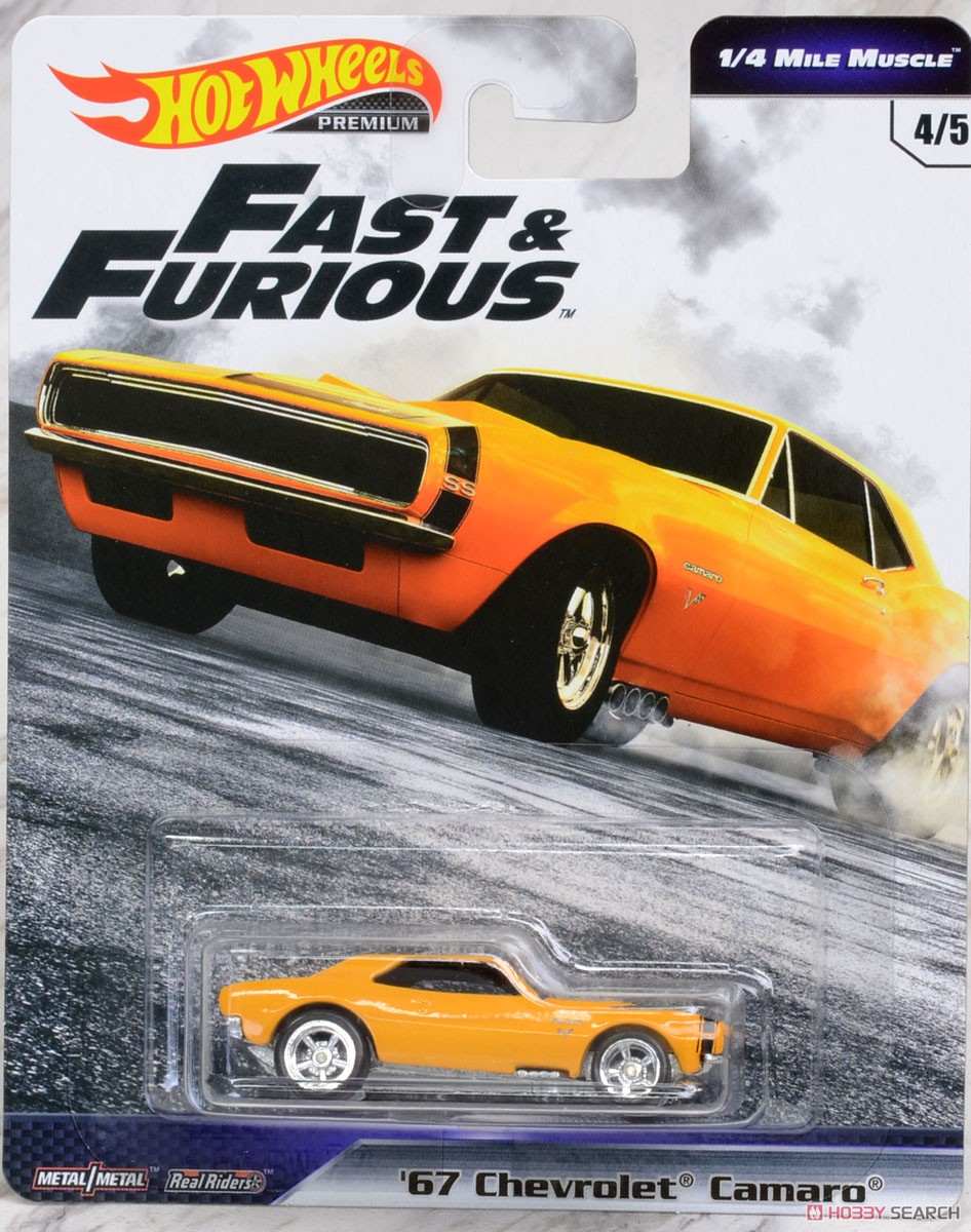 Hot Wheels Fast and Furious III 67 Chevrolet Camaro 1-4 Mile Muscle