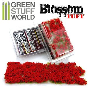 Blossom TUFTS - 6mm Self-Adhesive - RED Flowers (Material)