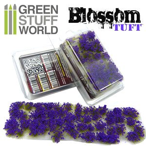 Blossom TUFTS - 6mm Self-Adhesive - Purple Flowers (Material)