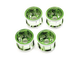 WR-02CB T Parts (Wheel Rims) (Green Plated) (RC Model)