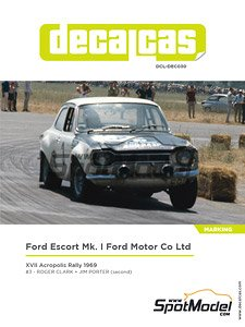 Decal Set for Ford Escort RS1600 Mk I Ford Motor Co Ltd - Acropolis Rally 1969 (Decal)
