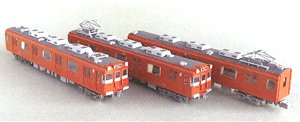 Meitetsu Series 100 Paper Kit (6-car set) (Unassembled Kit) (Model Train)