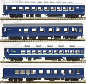 1/80(HO) J.N.R. Series 10 Passenger Car (Night Express) Set (4-Car Set) (Model Train)