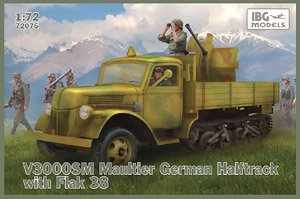 独・V3000SM 3トンハーフトラック+FLAK38 対空機関砲・マウルティア (プラモデル)