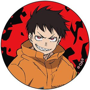 Fire Force Can Badge Shinra Kusakabe Anime Toy
