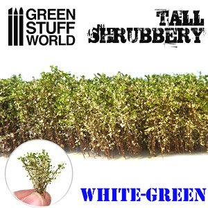 Tall Shrubbery - White Green (Material)