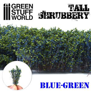 Tall Shrubbery - Blue Green (Material)