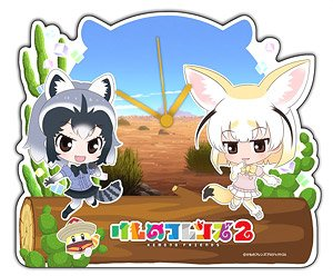 Kemono Friends 2 Acrylic Table Clock [Raccoon & Fennec] (Anime Toy)