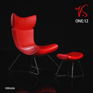 Chair & Footstool Set Red (Fashion Doll)