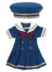 Picco D Gymnasium Sailor One-piece Set (Navy x Navy) (Fashion Doll)