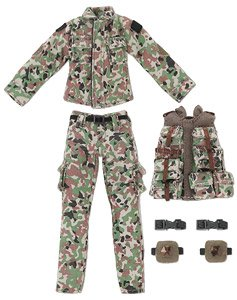 Camouflage Clothing & Bullet Proof Vest Set (SDF Color) (Fashion Doll)