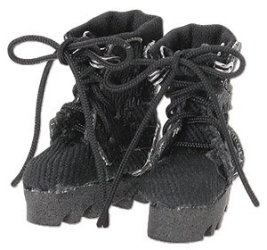 Military Combat Boots II (Black) (Fashion Doll)