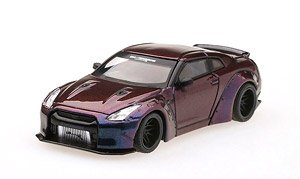 LB★WORKS Nissan GT-R (R35) タイプ1 リアウイング バージョン2 マジックパープル (右ハンドル) (ミニカー)