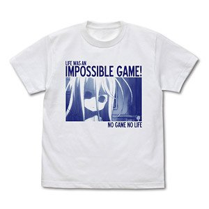 No Game No Life Life was an Impossible Game T-Shirt White M (Anime Toy)
