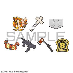 Fire Force Trading Pin Badge (7 pieces) (Anime Toy)