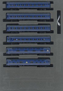 J.R. Limited Express Sleeping Passenger Cars Series 24 Type 25 (Hokutosei #1, #2) Additional Set (Add-On 6-Car Set) (Model Train)