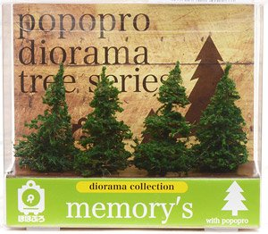 [memory`s] Conifer Tree 50mm (4 Pieces) (Model Train)