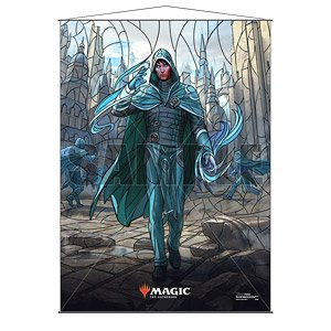 Ultra PRO Official Magic: The Gathering Wall Scrolls - War of the Spark Stained Glass Planeswalkers Jace (Anime Toy)