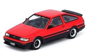 トヨタ カローラ レビン AE86 レッド/ブラック 交換用ホイールセット、デカール付 (ミニカー)