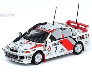 三菱 ランサー GSR エボリューションIII サファリラリー 1996 #7 (ミニカー)