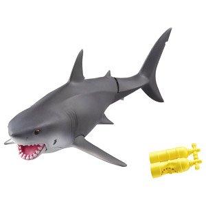 Takara Tomy ANIA AS-07 Weißer Hai Floatee Ver. Tier Actionfigur