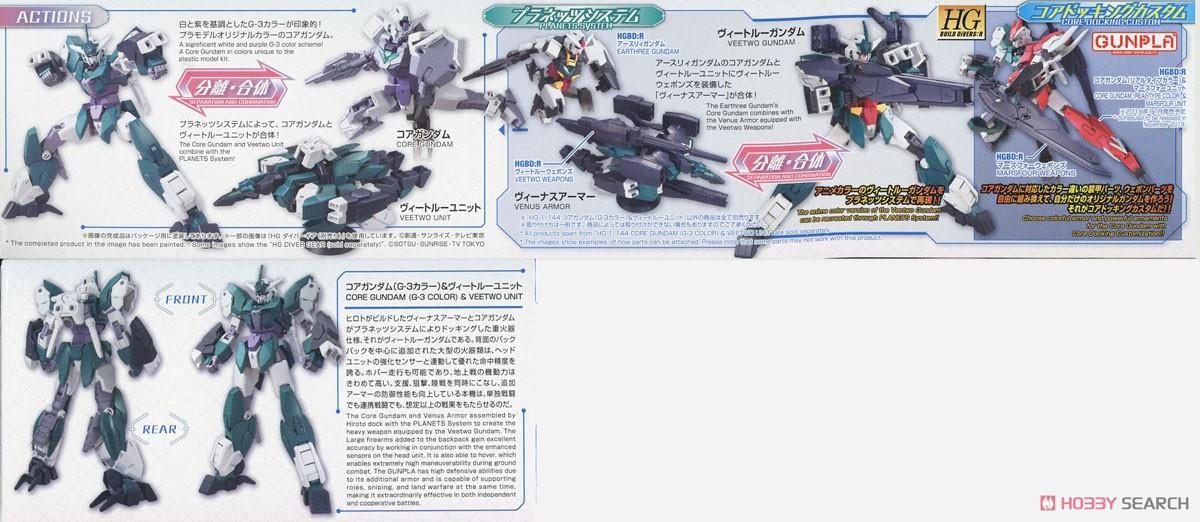 Core Gundam (G3 Color) & Veetwo Unit (HGBD:R) (Gundam Model Kits) Item picture4