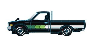 1978 Datsun Truck - (CUSTOM) - Gloss Black (Diecast Car)