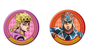 TV Animation [JoJo`s Bizarre Adventure: Golden Wind] Can Badge Set [Giorno & Mista] (Anime Toy)