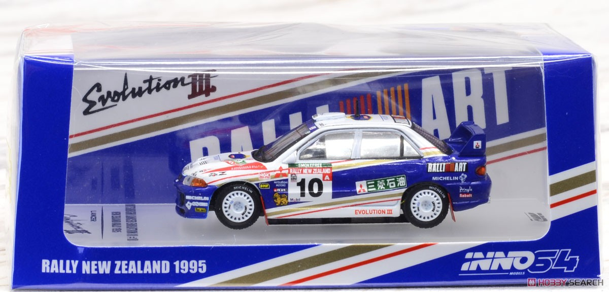 Mitsubishi Lancer Evolution III New Zealand Rally 1995 #10 (Diecast Car) Package1