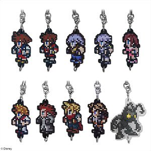 Kingdom Hearts Dot Rubber Strap (Set of 10) (Anime Toy)