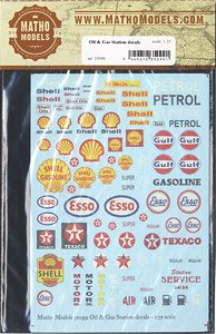 Diorama Material Oil & Gas Station Decals - HobbySearch