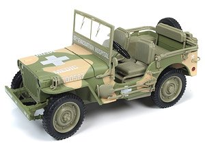1941 Jeep Willys in Army Medic Camo Auto World Military Series (ミニカー)