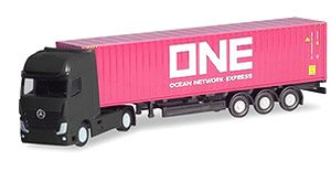 (N) Mercedes-Benz Actros Container Semi Trailer `ONE` (Model Train)