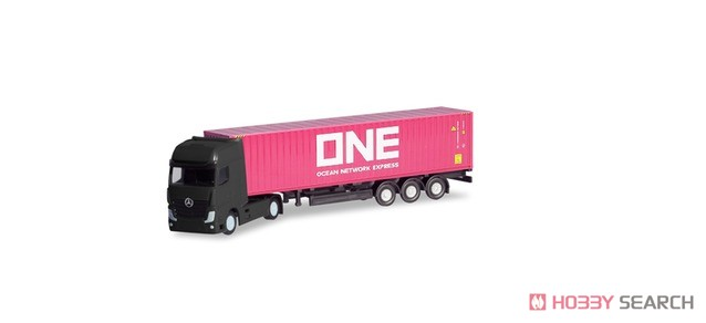 (N) Mercedes-Benz Actros Container Semi Trailer `ONE` (Model Train) Item picture1