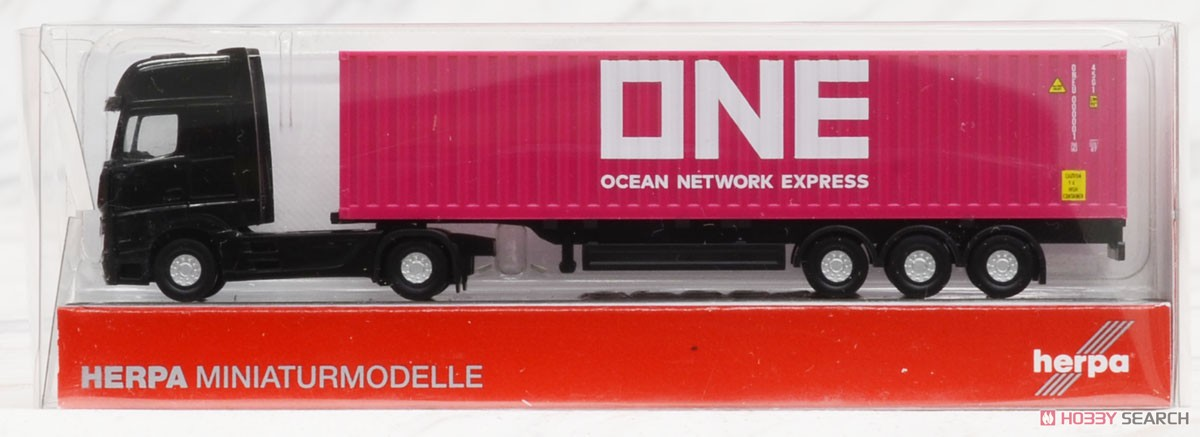 (N) Mercedes-Benz Actros Container Semi Trailer `ONE` (Model Train) Package1