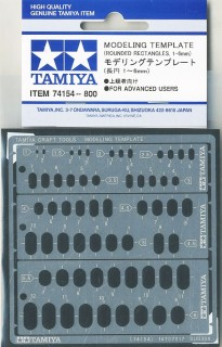 Tamiya 74154 MODELING TEMPLATE Rounded Rectangles//1-6mm
