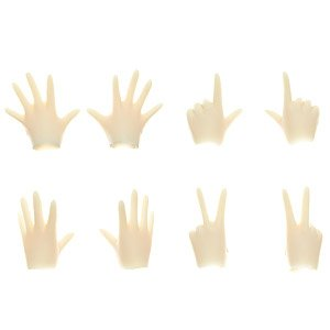 22cm Female Body Hand Parts Set A (Whity) (Fashion Doll)