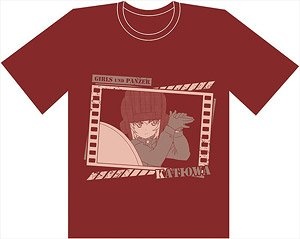 Girls und Panzer das Finale First Breakthrough T-Shirt/L Size Pravda High School (Anime Toy)