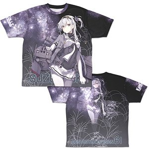Kantai Collection Suzutsuki Double Sided Full Graphic T-Shirts L (Anime Toy)