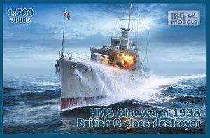 英・G級駆逐艦・グローウォームH-92・英海軍1938年 (プラモデル)
