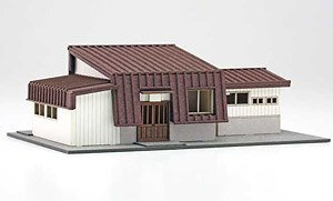 1/150 Scale Paper Model Kit Station Series 24 : Regional Station Building / Shichihyaku Station Type (Unassembled Kit) (Model Train)