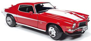 1971 Chevrolet Camaro Baldwin Motion Phase III Cranberry Red with White Stripes 1//18 Diecast Model Car by Autoworld AMM1197 MCACN