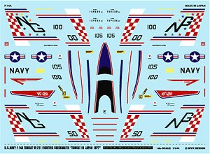 F-14A VF-211 Fighting Checkmates Tomcat in Japan 1977 (Decal)