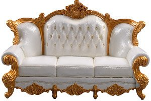 Classic Sofa 3P White (Fashion Doll)