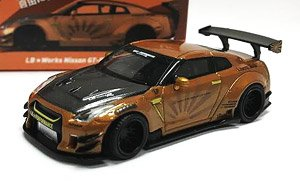LB WORKS Nissan GT-R R35 Type2 Rear Wing Version 3 Metallic Brown (RHD) Indonesia Limited Edition (Diecast Car)