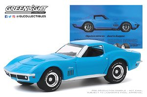 BFGoodrich Vintage Ad Cars 1969 Chevrolet Corvette Objects In Mirror Are About To Disappear (ミニカー)